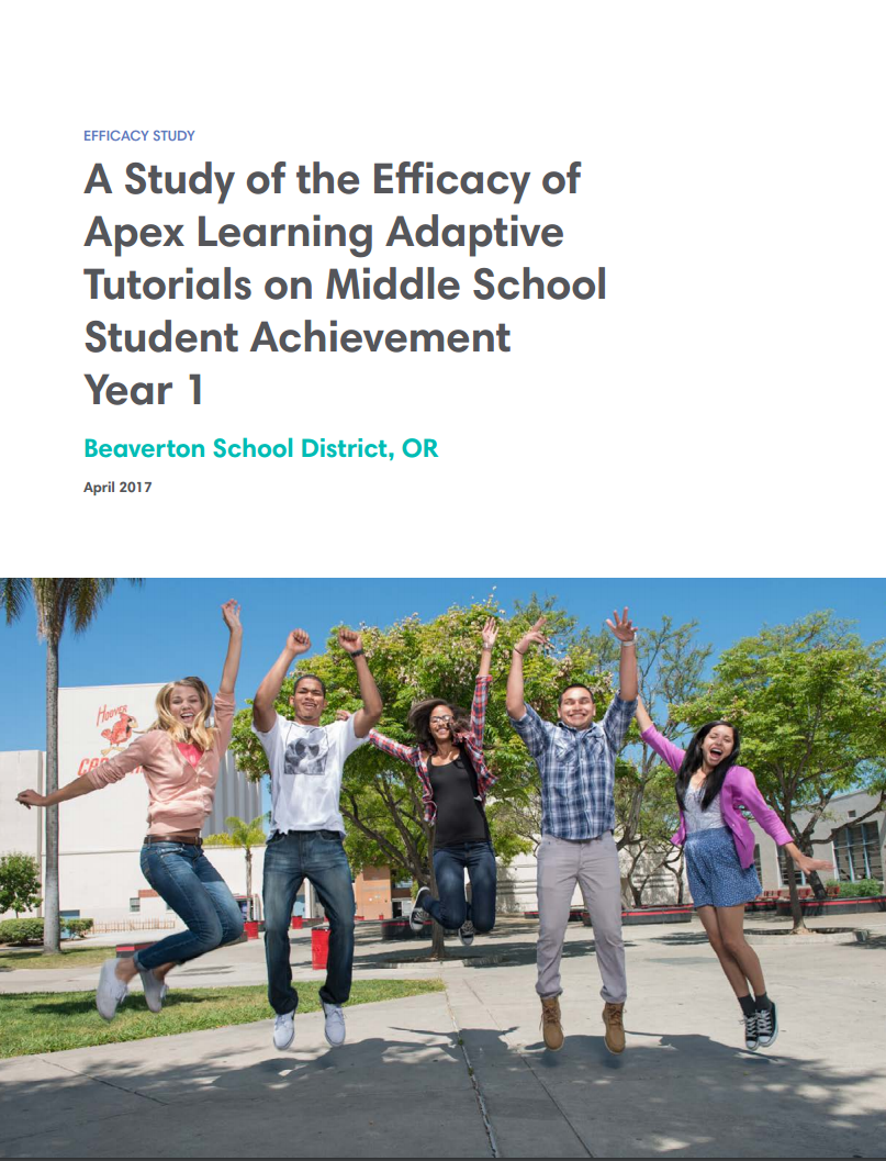 Beaverton Efficacy Study Cover Page