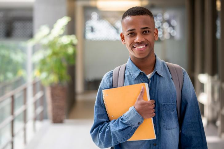 Student looking at the camera smiling